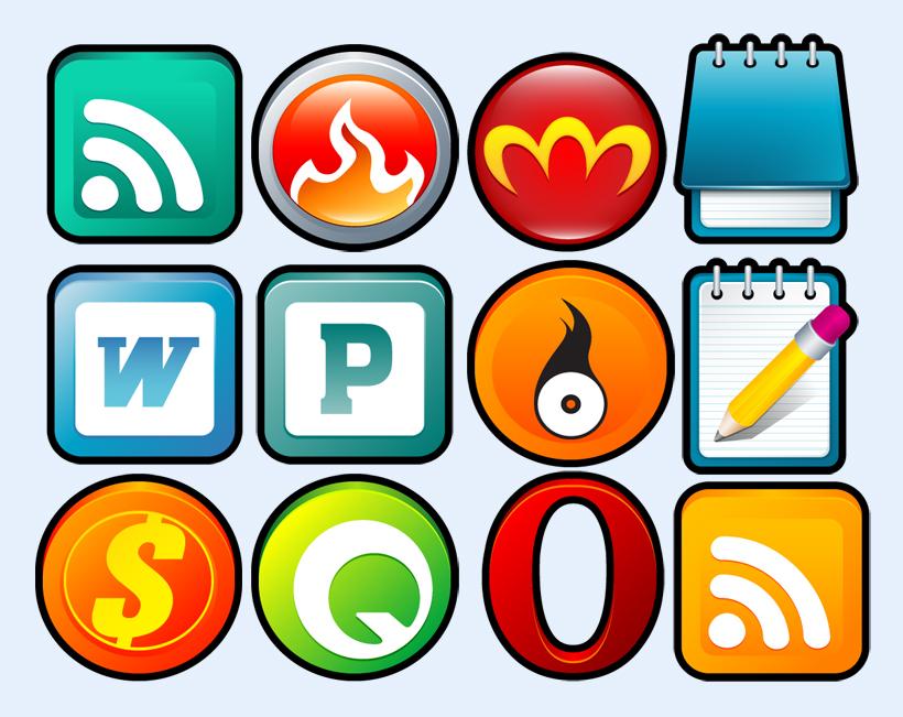 爱图首页 图标素材 系统图标 xp 卡通软件 rss office 圆形图标 系统图片