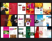 婚庆策划画册设计矢量素材