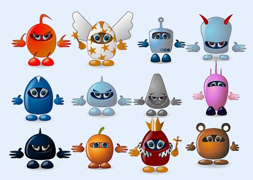 个性机器人卡通小蜜蜂系统图标png图标