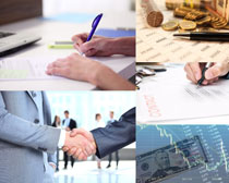 商业成功合作金融摄影高清图片