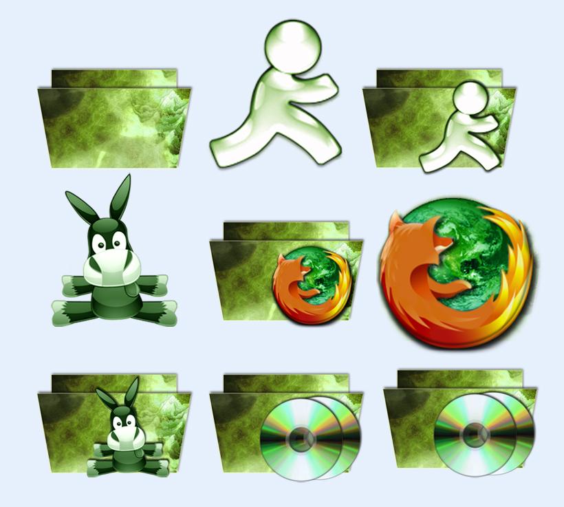 图标素材 系统图标 绿色电脑 火狐 光盘 动物 电驴 用户头像 系统图标