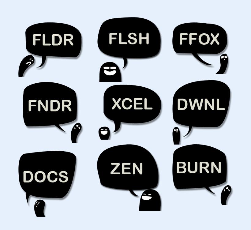 黑色flash对话框png图标