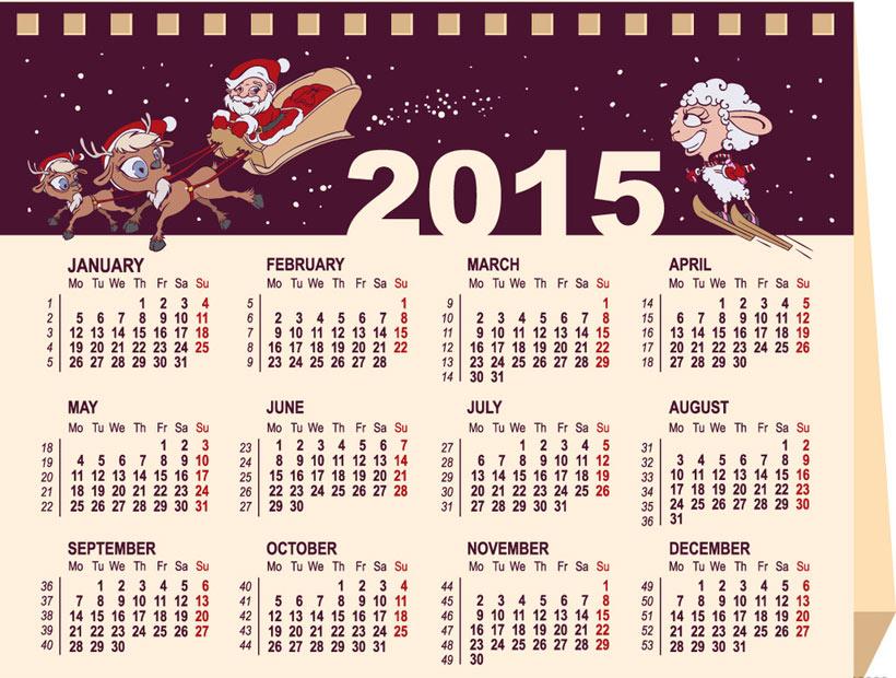 台历日历卡2015年周历羊年日历羊年周历新年新春新年图片