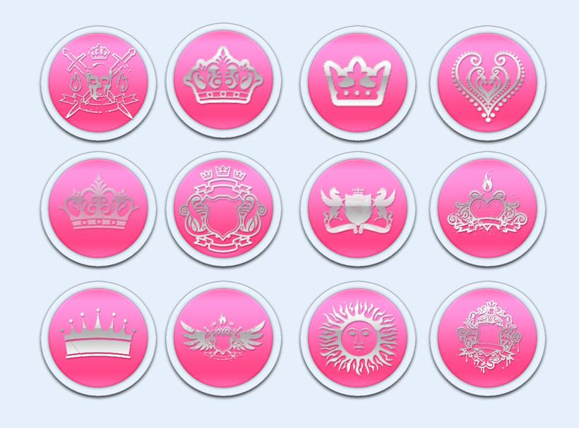 粉红色的皇冠png图标