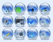 蓝色的系统相册PNG图标