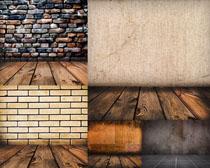 装修木板墙壁摄影高清图片