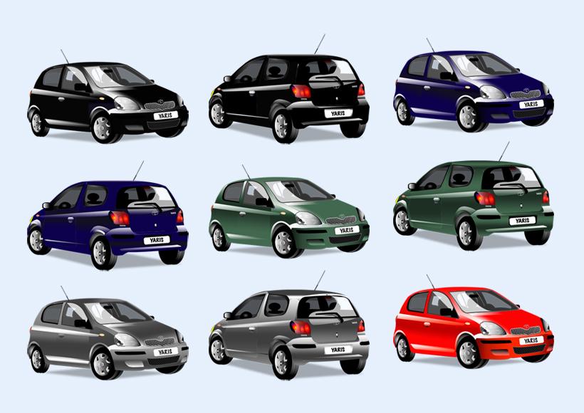 黑色的丰田轿车PNG图标 爱图网设计图片素材