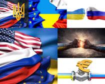 创意国际旗帜摄影高清图片
