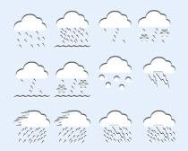 白色的天气预报PNG图标