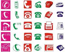 电话机传真机图标PSD素材