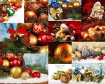 圣诞节装扮材料摄影高清图片