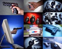 軍事武器警察攝影高清圖片