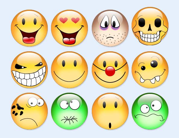 可爱的聊天图标PNG表情-爱图网v图标图片素材表情包动态真人哟哦图片