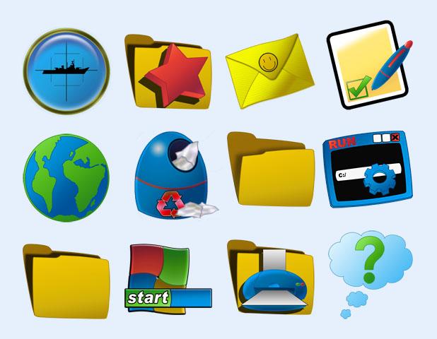 韩国风格按钮图标显示png图标