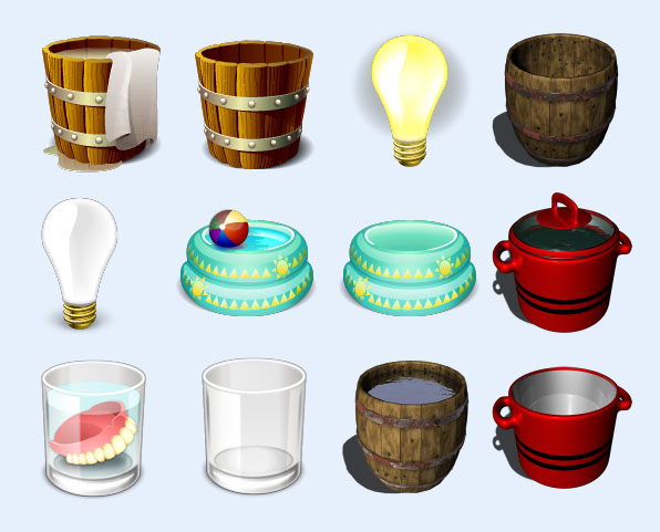 木水桶png图标 - 爱图网设计图片素材下载