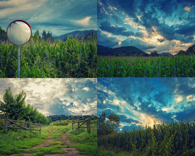 素材信息   关键字: 田园庄园自然风景天空树木草地野外风光摄影高清