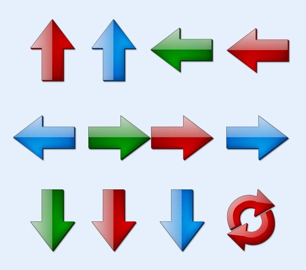 循环箭头png图标