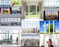 家居窗戶拍攝高清圖片
