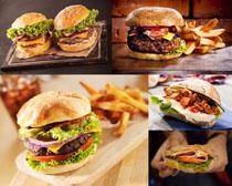 国外汉堡包食物摄影高清图片