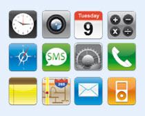 模糊风格的苹果系统图标PNG图标