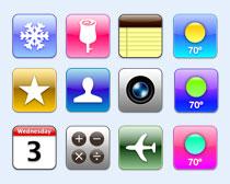 粉红色苹果手机系统PNG图标