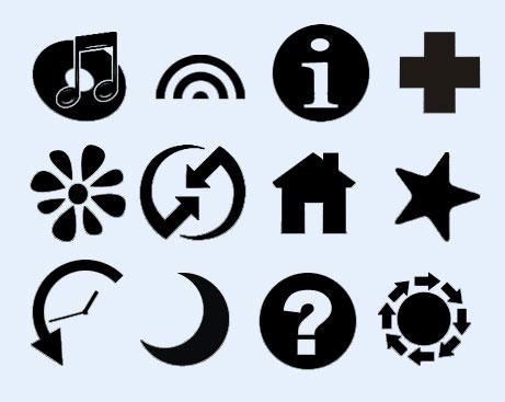 黑白设计的音乐图标png图标