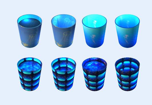蓝光垃圾桶png图标 - 爱图网设计图片素材下载