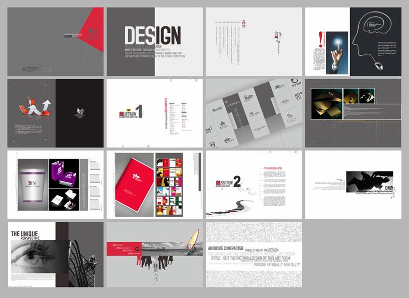 广告公司画册设计矢量素材