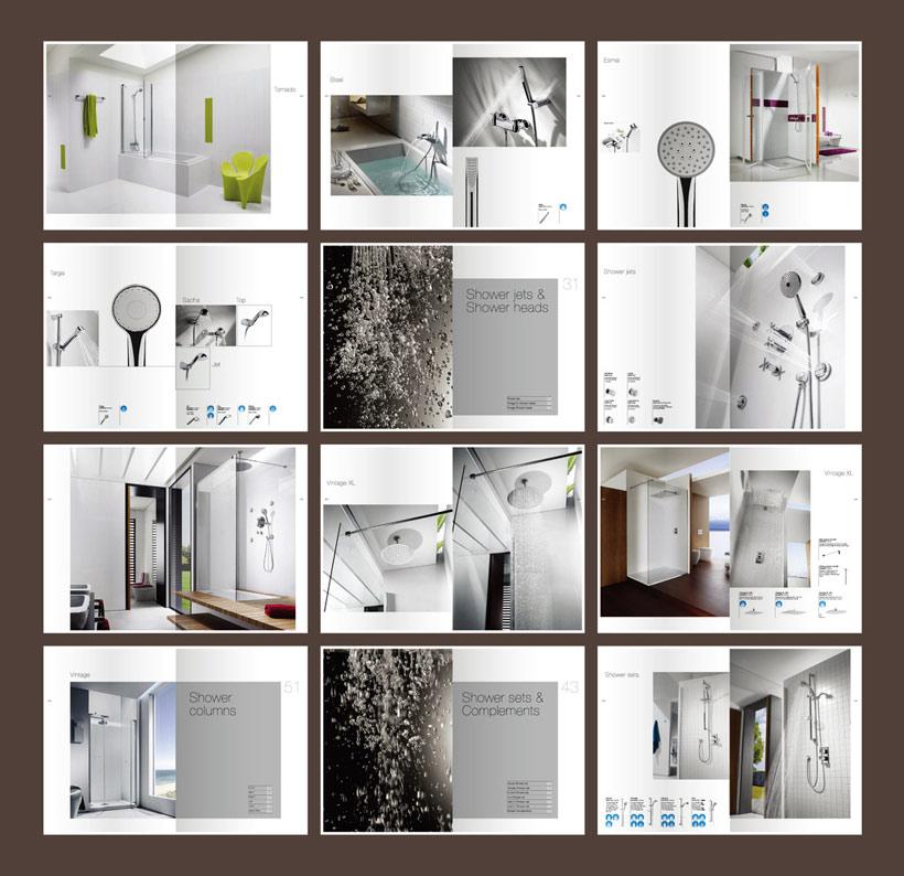 卫浴宣传画册设计矢量素材