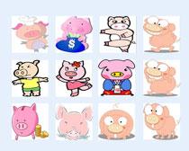 卡通猪猪PNG图标