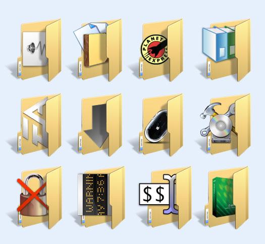 立体风格的文件夹png图标