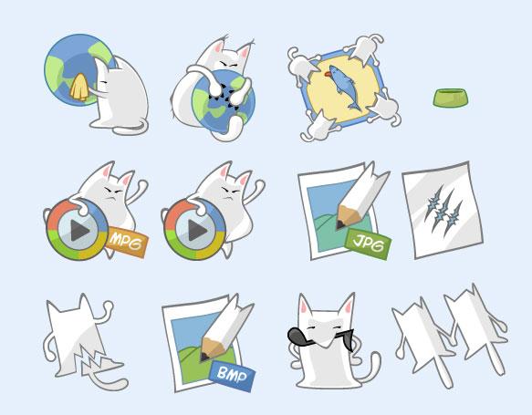 可爱的猫猫png图标