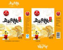 五谷杂粮食品包装促销海报PSD素材
