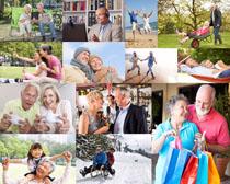 开心的幸福老年人摄影高清图片