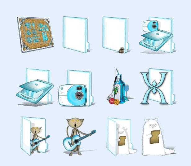 卡通动物文件夹png图标