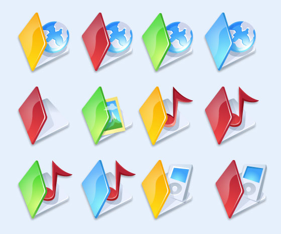 红色封面的文件夹png图标