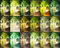 人像照片柔美艺术效果PS调色动作素材