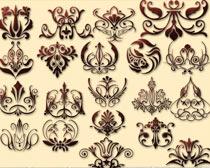 歐式花紋圖案PS形狀素材
