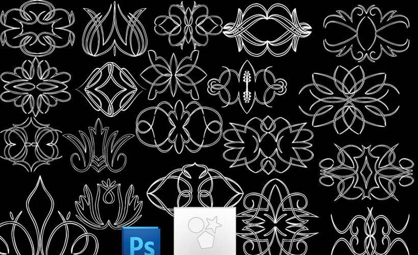 花紋圖案形狀PS素材