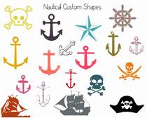海盜船形狀PS素材