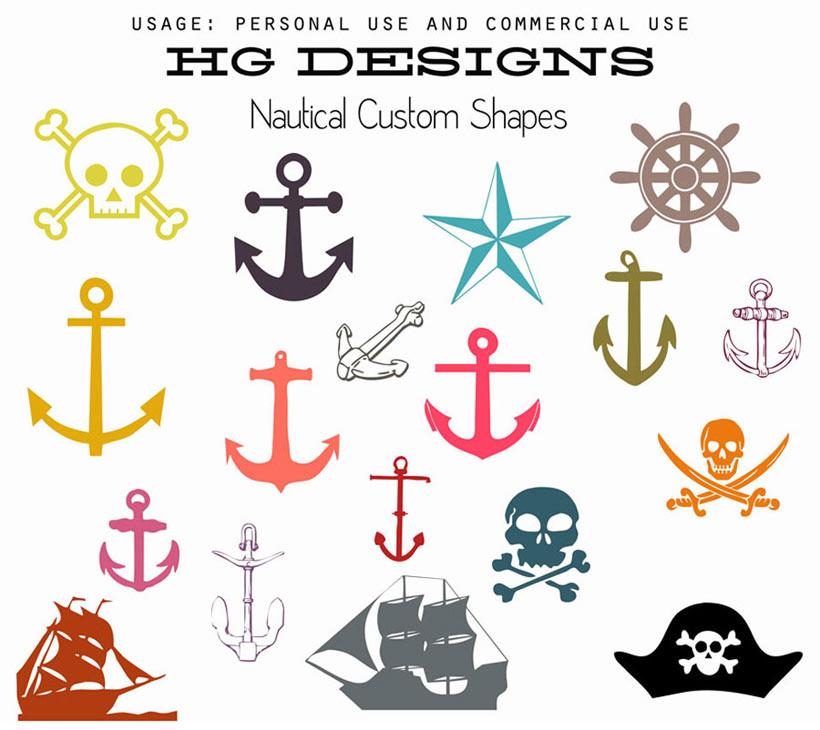 爱图首页 ps素材 ps形状 > 素材信息   关键字: 船锚海盗船形状骷髅头图片