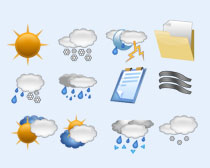 太陽和雷雨PNG圖標