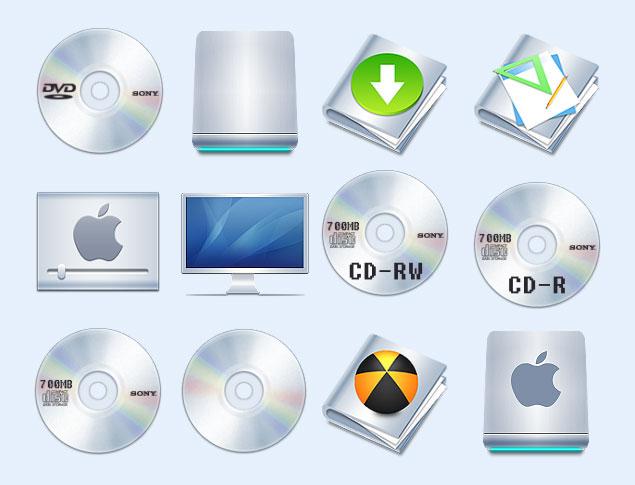 亮彩的DVD光盘PNG图