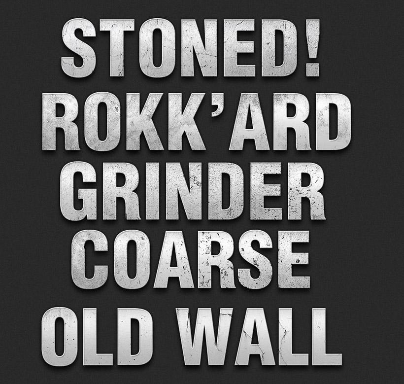 岩石纹理ps字体样式