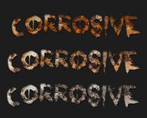 铁锈迹PS字体样式