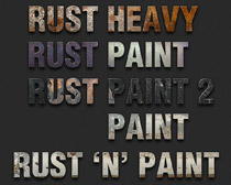 铁锈字体样式PS素材