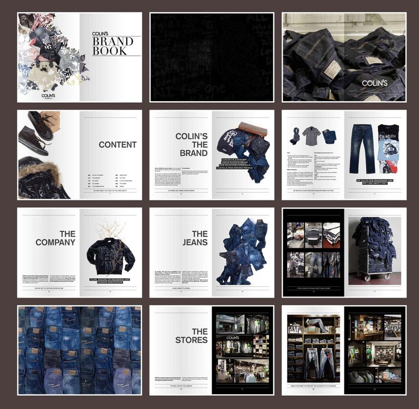服饰宣传画册设计矢量素材图片