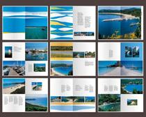 唯美旅游文化画册设计矢量素材