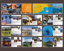 旅游广告宣传画册设计矢量素材