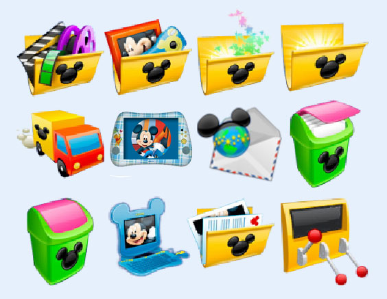 米老鼠风格的垃圾箱png图标